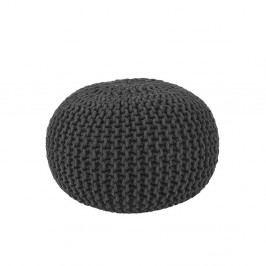Černý pletený puf LABEL51 Knitted, Ø50cm