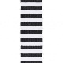 Černo-bílý běhoun vhodný do exteriéru Narma Birkas, 70x300cm