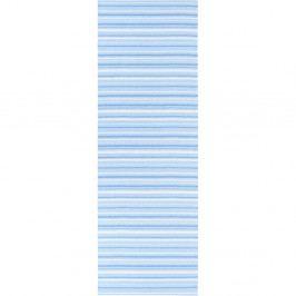 Modro-bílý běhoun vhodný do exteriéru Narma Hullo, 70x150cm
