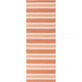 Oranžový běhoun vhodný do exteriéru Narma Runo, 70x300cm