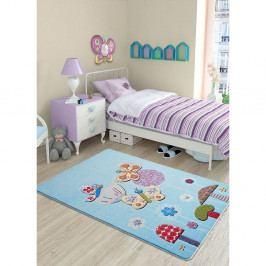Dětský modrý koberec Confetti Effect,100x150cm