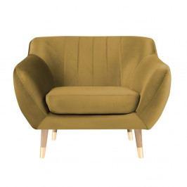 Křeslo ve zlaté barvě Mazzini Sofas Benito