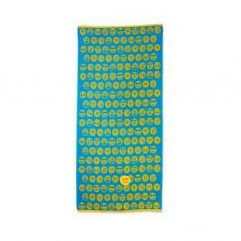 Zeleno-žlutá plážová bavlněná osuška Bergner Emoticon, 75x150cm