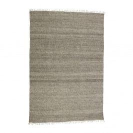 Hnědý vlněný koberec BePureHome Fields, 240x170cm