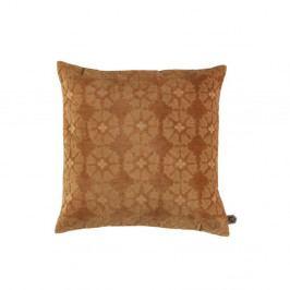 Sametový hnědý polštář BePureHome Gossip, 50x50cm