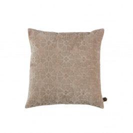 Sametový béžový polštář BePureHome Gossip, 50x50cm