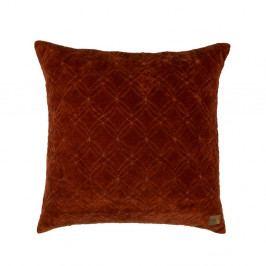 Tmavě červený bavlněný polštář BePureHome Cherish, 50x50cm