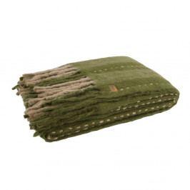 Zelený pléd BePureHome Hug, 170x130cm
