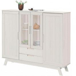 Bílá dřevěná skříňka Støraa Olive