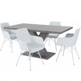 Sada stolu a 4 bílých židlí Støraa Albert
