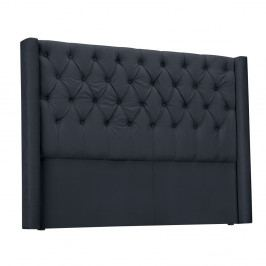 Ocelově šedé čelo postele Windsor & Co Sofas Queen, 176 x 120 cm