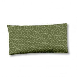 Zelený povlak na polštář z bavlněného saténu HIP Bodhini, 40x80cm