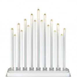 Bílý svítící LED svícen Markslöjd Chester