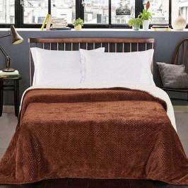 Hnědý oboustranný přehoz na postel DecoKing Lamby, 210 x 170 cm