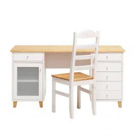 Pracovní stůl z borovicového dřeva Askala Scala