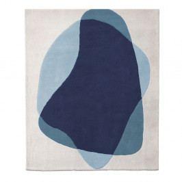 Modro-šedý koberec z čisté vlny HARTÔ Serge, 180 x 220 cm
