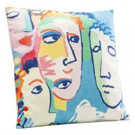Polštář s motivem obličejů Kare Design Artistic, 45 x 45 cm