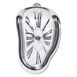 Stolní hodiny ve stříbrné barvě Kare Design Flow