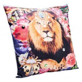 Breavný polštář s motivem lva Kare Design Bollywood, 45 x 45 cm