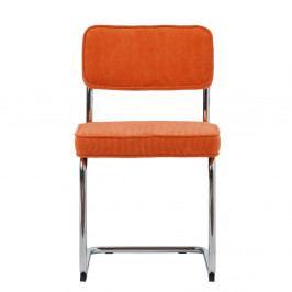 Oranžová jídelní židle Unique Furniture Rupert Bauhaus