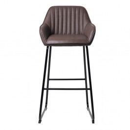 Kávově hnědá čalouněná barová židle Unique Furniture Brooks
