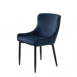 Tmavě modrá čalouněná židle Unique Furniture Ottowa
