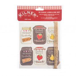 Sada 13 označovacích štítků s motivem marmelád Kilner