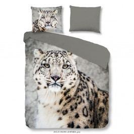 Povlečení na dvoulůžko z bavlněného saténu Muller Textiels Snow Leopard, 200 x 200 cm