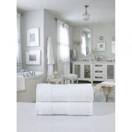 Sada 2 bílých bavlněných osušek Muller Textiels, 70 x 140 cm