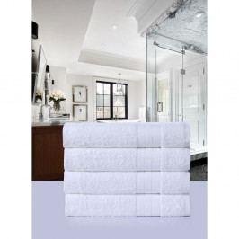 Sada 4 bílých bavlněných ručníků Muller Textiels, 50 x 100 cm