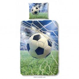 Dětské bavlněné povlečení Good Morning Football Game, 140 x 200 cm