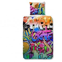 Dětské bavlněné povlečení Good Morning Graffity, 140 x 200 cm