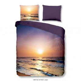 Povlečení na jednolůžko z mikroperkálu Muller Textiels Rassano Sunset Over The Ocean, 140x200 cm