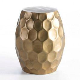 Odkládací stolek ve zlaté barvě Thai Natura, ⌀46cm