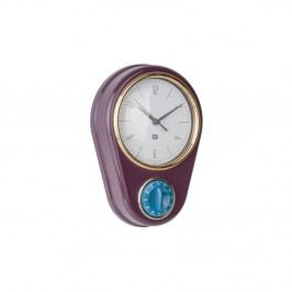 Tmavě fialové nástěnné hodiny s kuchyňskou minutkou PT LIVING