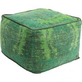 Zelený puf s ornamentem Kare Design Kelim