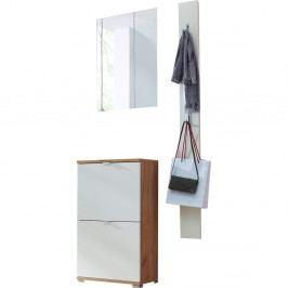 Set skříňky, nástěnného zrcadla a nástěnného věšáku Germania Colorado Navarra Puro