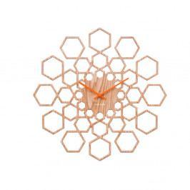 Nástěnné hodiny ve dřevěném dekoru Karlsson Sunshine Hexagon