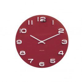 Červené hodiny Karlsson Vintage, ø35 cm