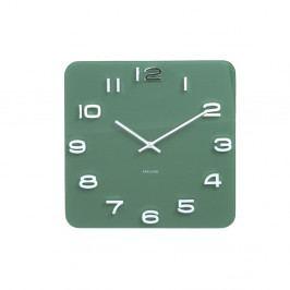 Zelené hodiny Karlsson Vintage, 35 x 35 cm