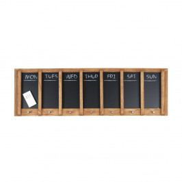 Nástěnná tabule s týdenním plánovačem PT LIVING Wood, 80x25cm