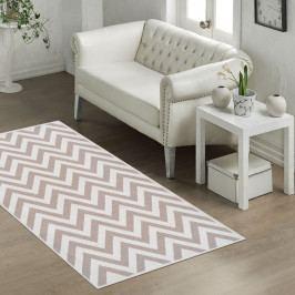 Odolný koberec Vitaus Zikzak Bej, 80x150cm