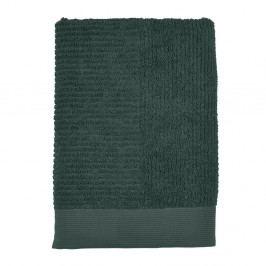 Tmavě zelená osuška Zone Classic, 70 x 140 cm