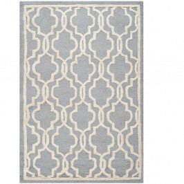 Šedý vlněný koberec Safavieh Elle, 121x182cm