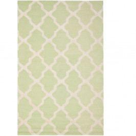 Vlněný koberec Ava Light Green, 182x274 cm