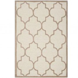 Béžový vlněný koberec Safavieh Everly, 91x152cm