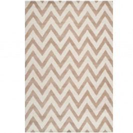 Béžový vlněný koberec Safavieh Stella, 182x274cm