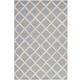 Šedý vlněný koberec Safavieh Sophie, 91x152cm