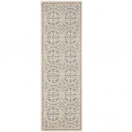 Vlněný koberec Marina Light Grey, 76x243 cm