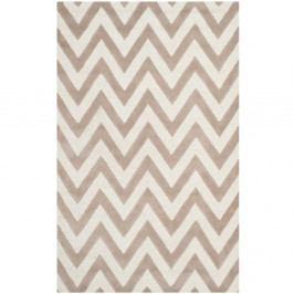 Béžový vlněný koberec Safavieh Stella, 91 x 152 cm